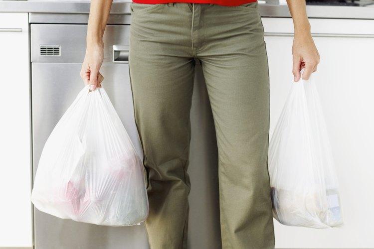 Las bolsas de plástico pueden reutilizarse.