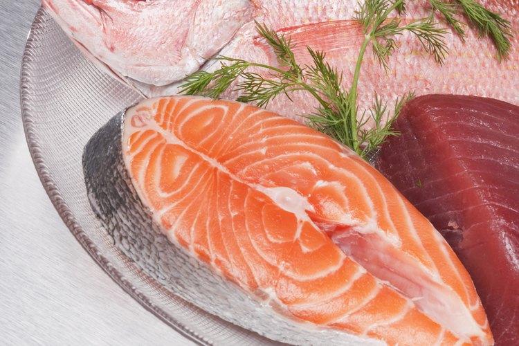 El pescado contiene grandes cantidades de L-arginina.