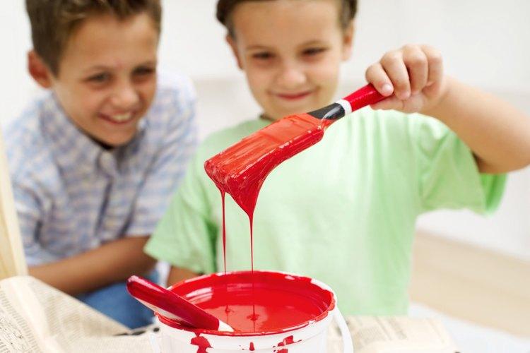 Trata las manchas de pintura inmediatamente.
