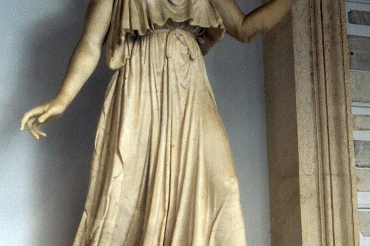 Hera siempre era representada como una mujer regia y hermosa.