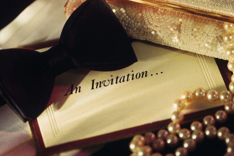 El estilo de la invitación debe combinar con la formalidad del evento.