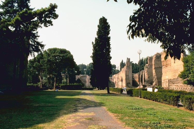 Las Termas de Caracalla contienen hermosos mosaicos.