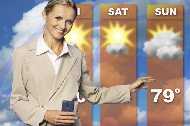 La mayor cantidad de meteorólogos se dedican a pronosticar el clima.