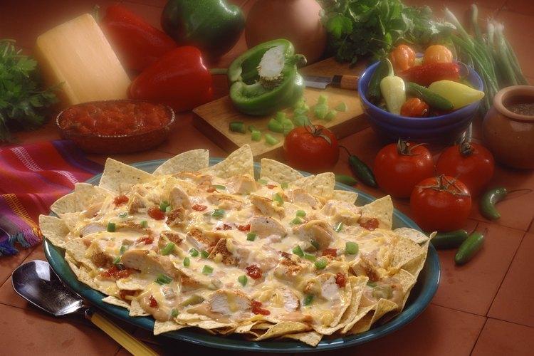 Los nachos de pollo son fáciles de hacer en casa.