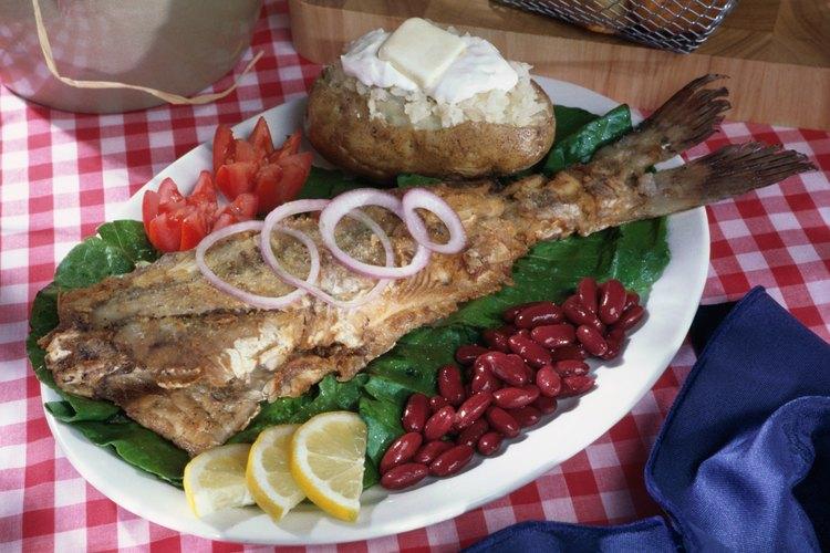El bagre es un pez popular para comer.