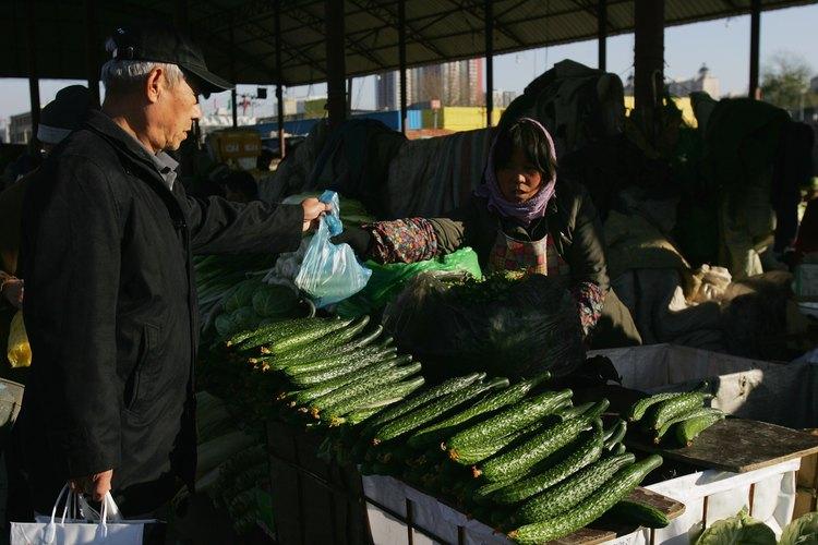 Pepinos asiáticos.