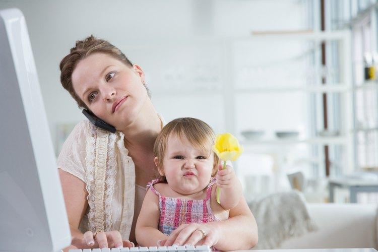 Las amas de casa ocupadas pueden trabajar desde el hogar.