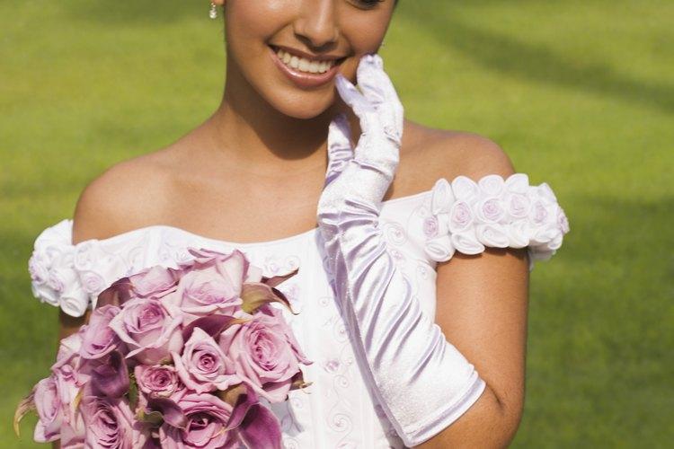 Los guantes de vestidos elegantes se usan en ocasiones muy especiales.
