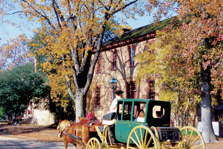 Una clásica casa georgiana en Williamsburg, Virginia.