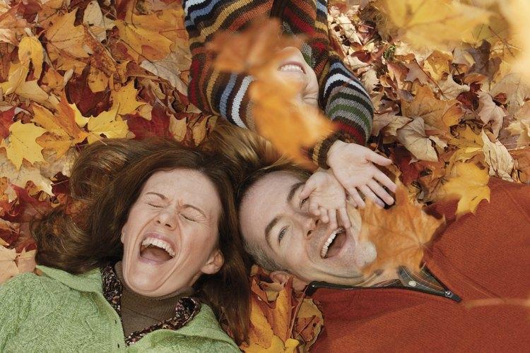 El otoño es hermoso para las fotografías familiares.