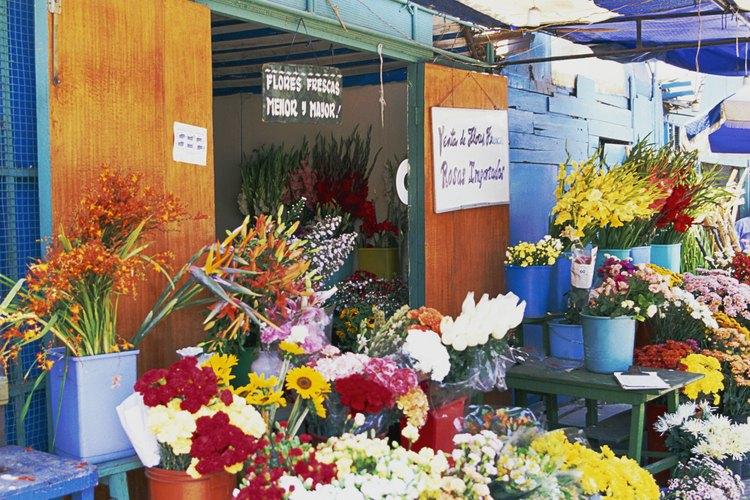Flores en el mercado