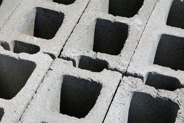 Los bloques de concreto se pueden apilar en seco.