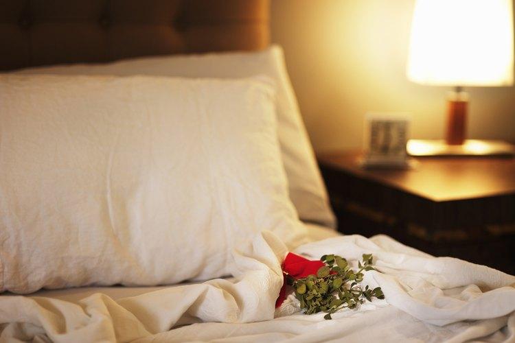 Busca sábanas de algodón 100 por ciento egipcias.