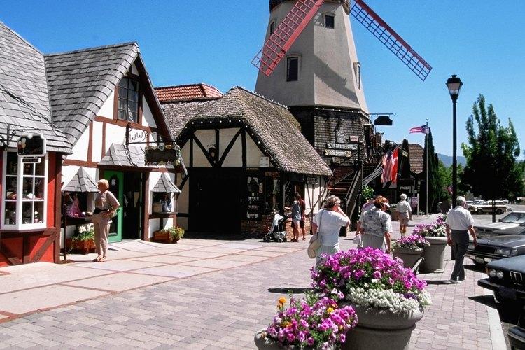 Solvang, California, tiene una arquitectura de estilo danés.
