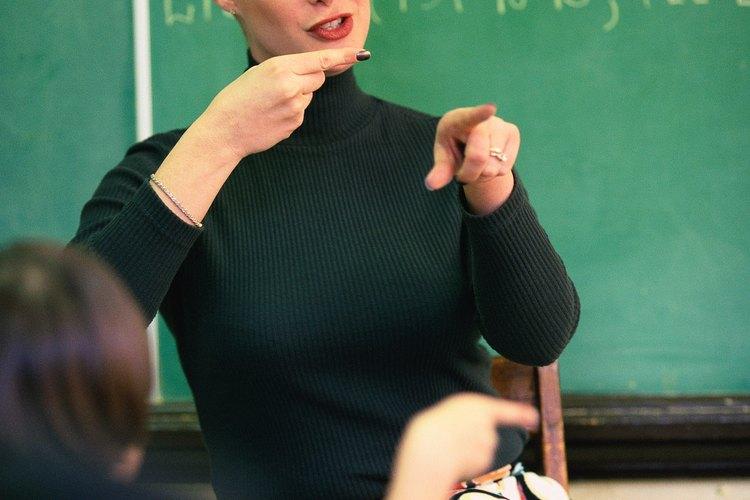Los intérpretes suelen necesitarse en un salón de clases.