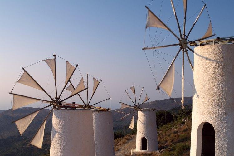 Molinos de torre de Creta.