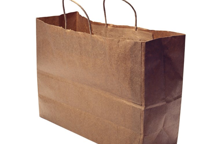 Utiliza la bolsa de papel de las compras.