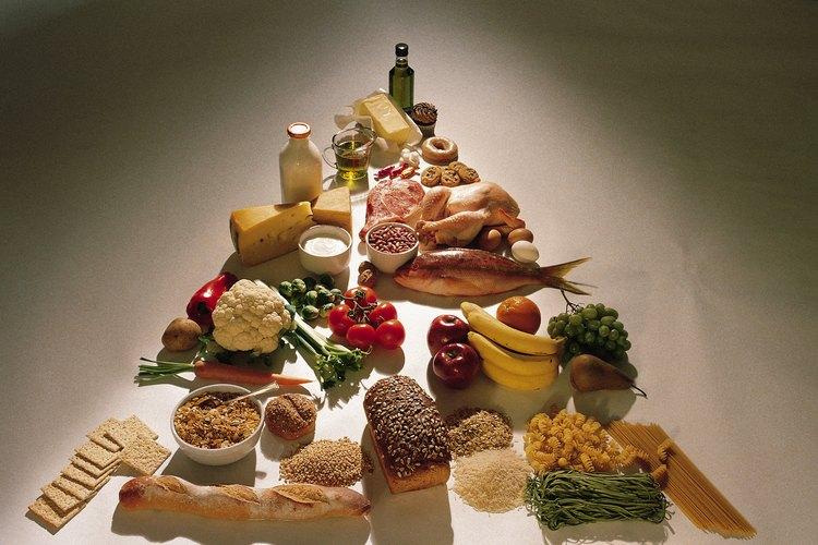 Un ejemplo de esto es la pirámide de los alimentos, que describe las categorías de productos alimentarios de una manera que enseña los tamaños de las porciones adecuadas.