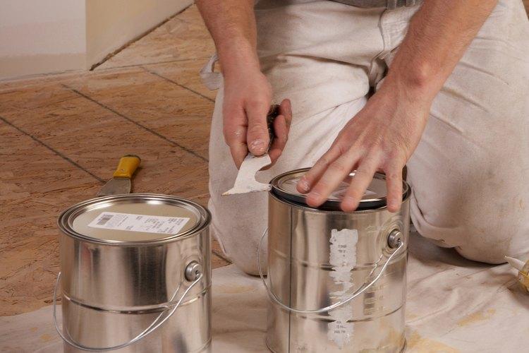 Las pinturas al aceite presentan algunos riesgos para la salud cuando se usan donde hay bebés.