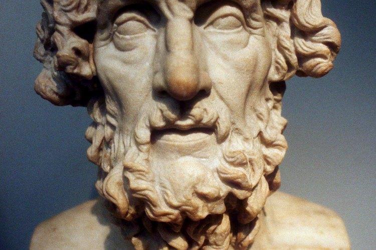 Los hombres de la Antigua Grecia utilizaban barbas largas, como la que se muestra en este busto de Homero.