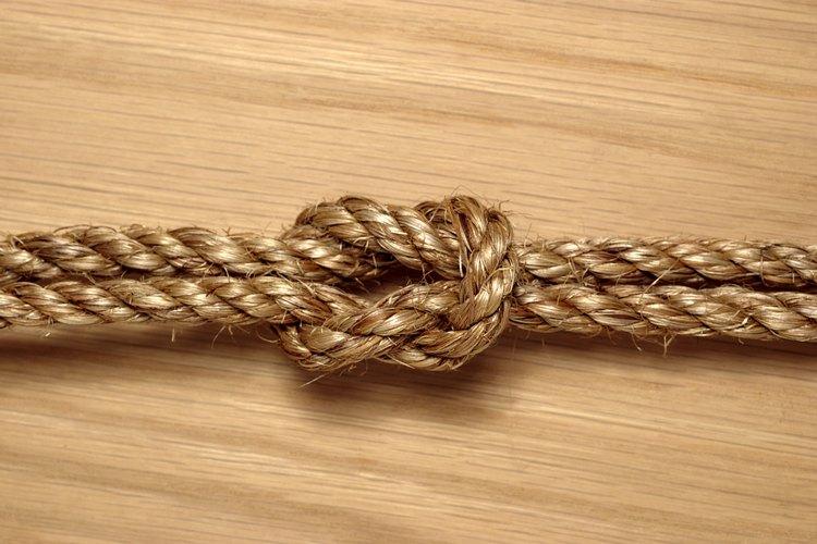 Fotografía de un nudo cuadrado.