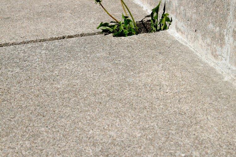 Deshazte de las malas hierbas de la acera con la ayuda de bicarbonato o vinagre.