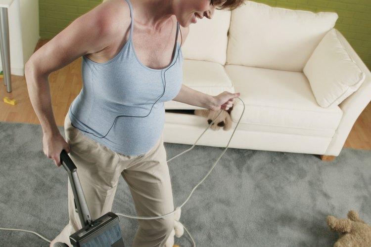 Aspira los pisos para eliminar restos de comida.