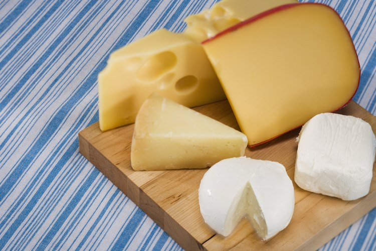 Una variedad de tipo de quesos.