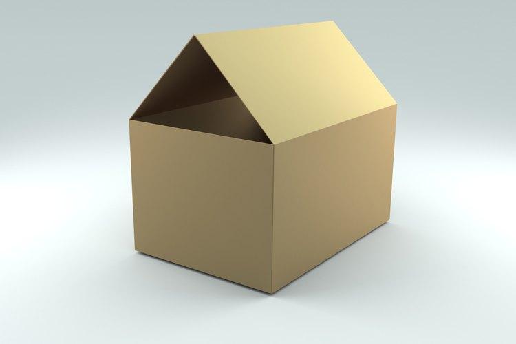 Recicla una caja de cartón corrugado y haz una silla.