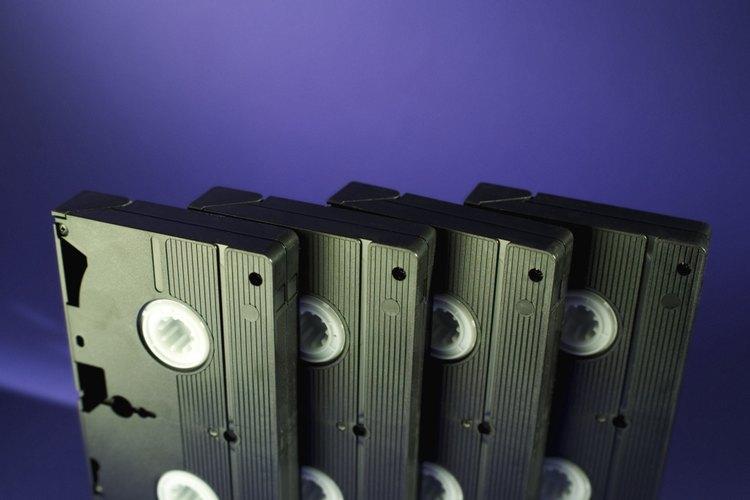Las cintas VHS y otros soportes de grabación se están quedando obsoletos.