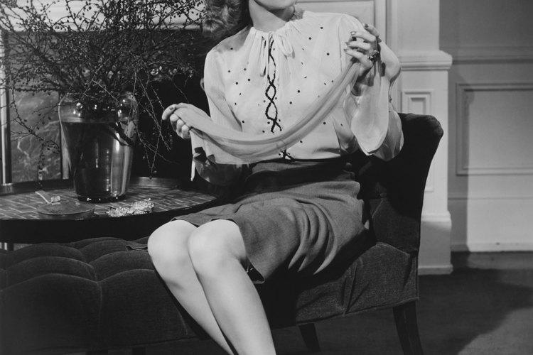 En los 40 la moda era ultra femenina.