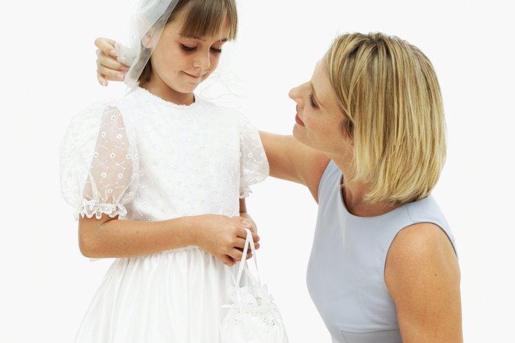 Cómo hacer una tiara con velo para la primera comunión