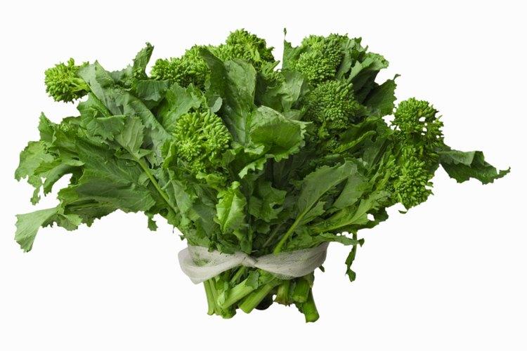 El brócoli rabé es más popular en la cocina italiana y china.
