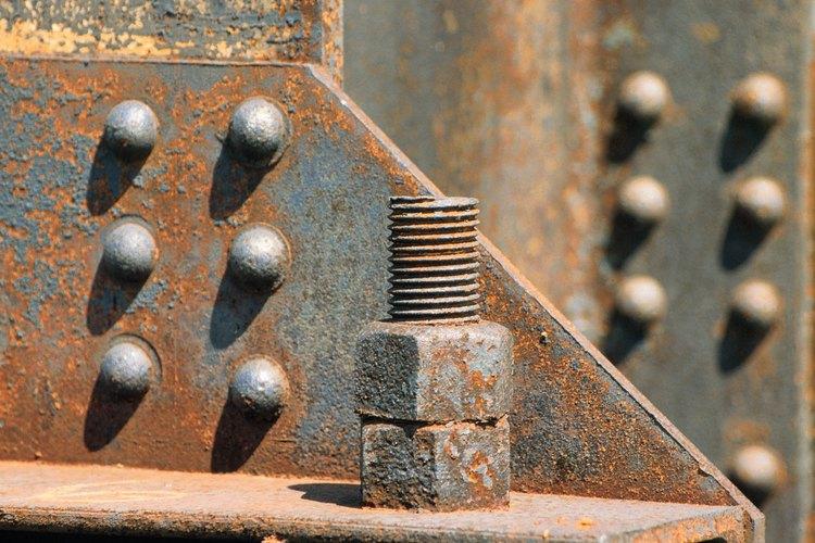 El oxido aparece cuando el acero es expuesto al agua.