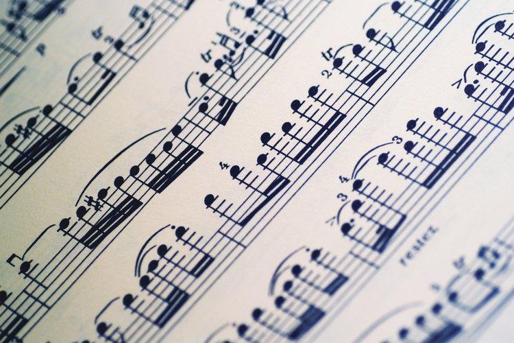 Elige el menor valor de nota de la pieza musical.
