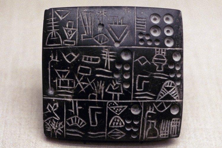 Los sumerios, situados en Mesopotamia, inventaron la primera forma de escritura.