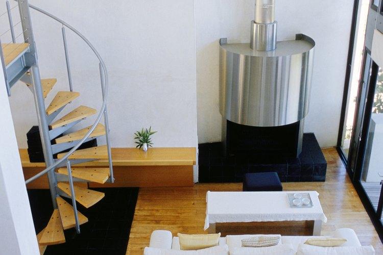 C mo instalar un tubo de chimenea en una estufa a le a a trav s de una pared - Como colocar una chimenea de lena ...