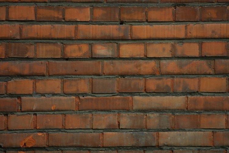 Paredes de ladrillo requieren pocos materiales para la construcción.