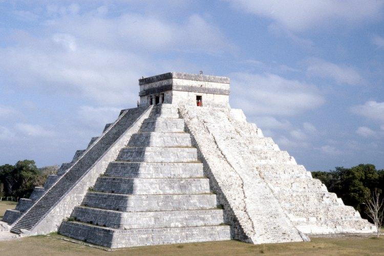 La contrucción de las pirámides mayas comenzó aproximadamente en el 250 d.C.