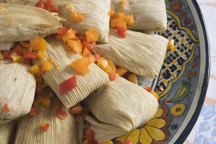 Se comen tamales durante el día de La Candelaria.