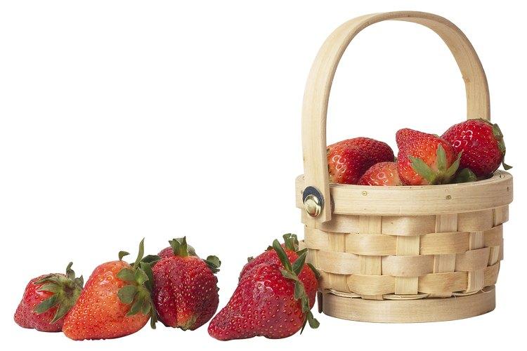 Las fresas deberían tener un exterior brillante.