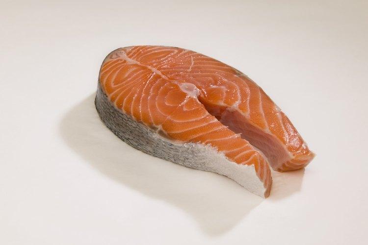 El salmón es rico en lisina.