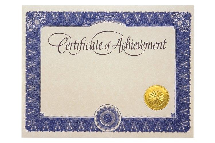 Puedes usar certificados para recompensar los logros de tus estudiantes de la escuela dominical.