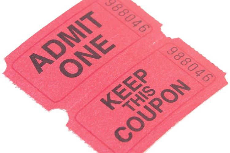 Diseña tus propios boletos personalizados con talones removibles para registrar las ventas y hacer rifas.