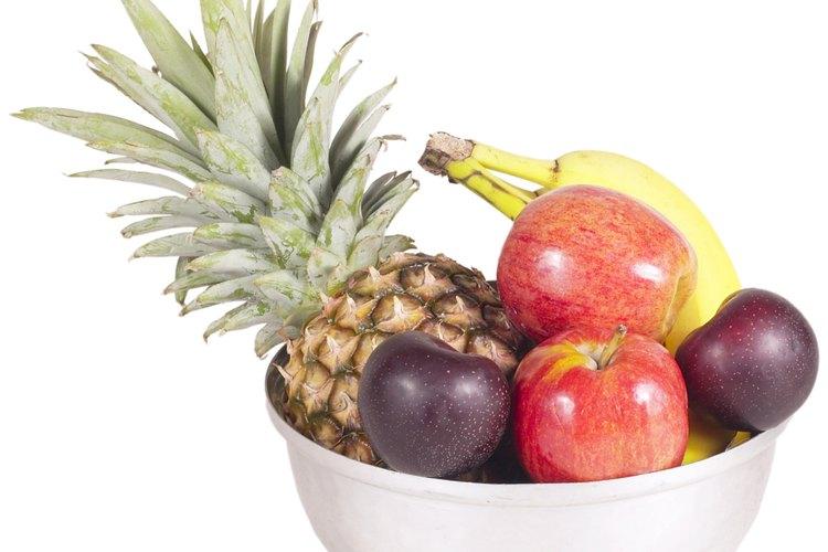 La fruta tiene alto contenido de fibra y agua.