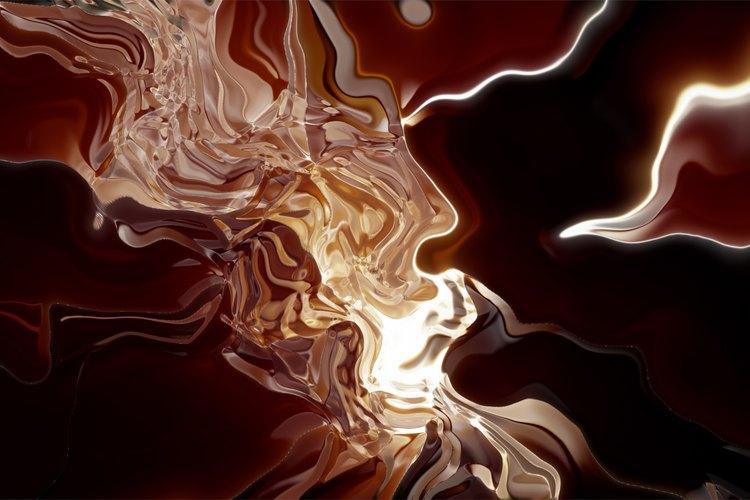 El cristal líquido tiene la capacidad de cambiar de color durante la transferencia de calor.