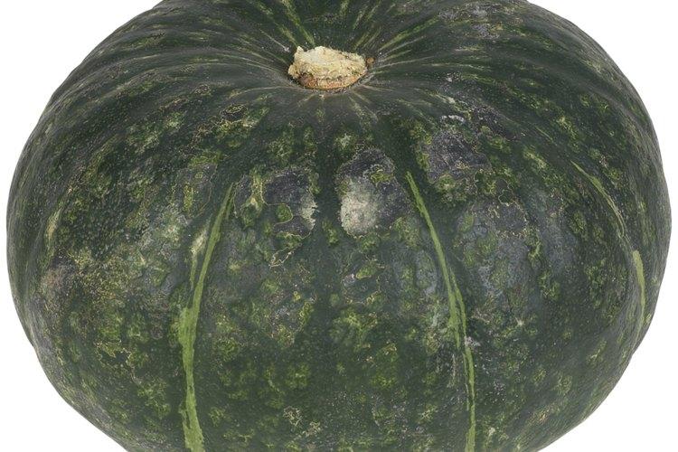 El zapallito tiene una cáscara verde oscuro y una carne naranja brillante.
