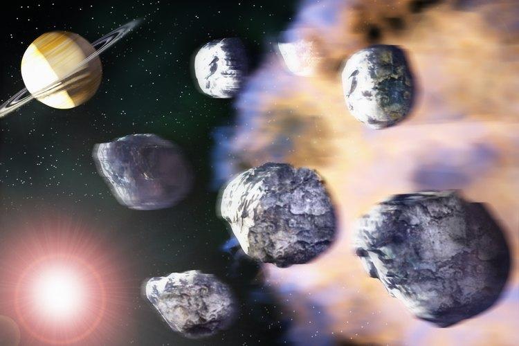 Los asteroides están atrapados en la gravedad del sol entre Marte y Júpiter.