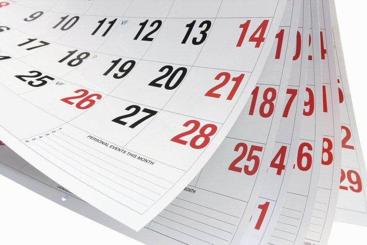 Un calendario.