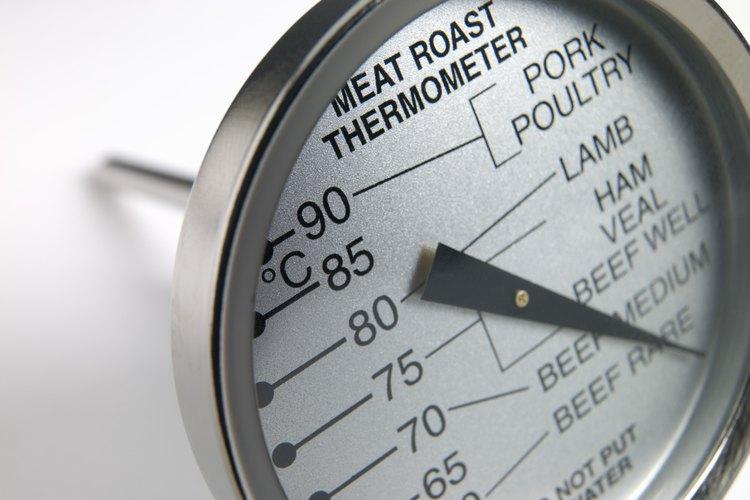 Usa un termómetro para carnes para saber cuándo el asado este listo.